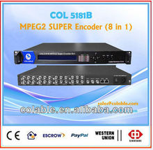 COL5181B Super MPEG 4 Encoder 8 IN 1 Encoder, ASI IP video encoder 8 channels VOD, real time CATV or satellite head end