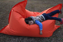 Hot sale outdoor travel inflatable cushion,flocked PVC seat cushion