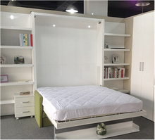 Modern Folding Wall Bed ,Hidden Wall Bed,Murphy Bed with Sofa and Wardrobe