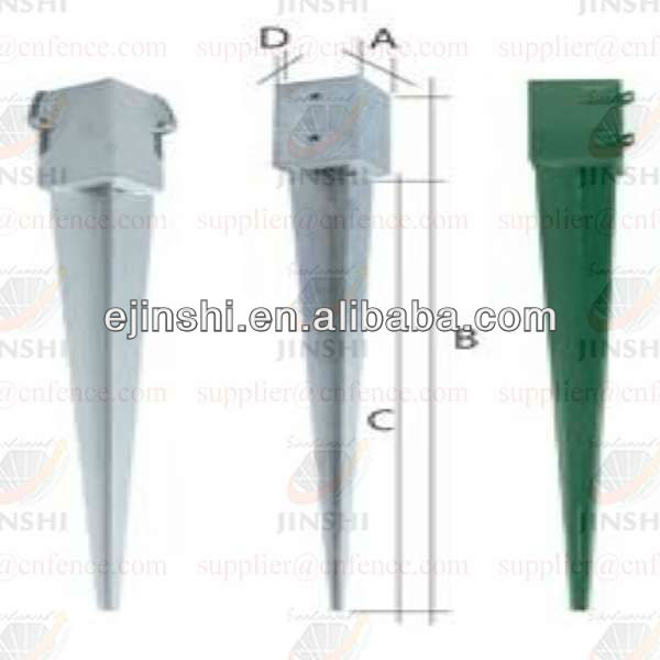 galvanized screw pole anchor.screw post anchor for Flag Poles and Marks