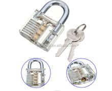 Professional Cutaway Inside View of Practice Cadeado Padlocks Lock Pick Lock Training Trainer Pick for Locksmith with two Keys