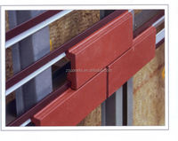 Dry hanging system brick slip clinker tiles , Facade cladding wall panels, wall decorative clinker facade tile