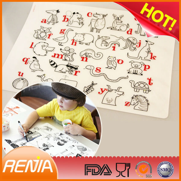 RENJIA silicone mat heat protection silicone relief mat silicone placemats and coasters
