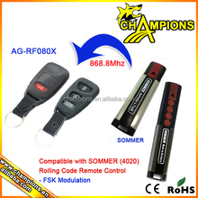Compatible with SOMMER 4020,868MHz rolling code remote control AG-F080X