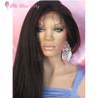 Wholesale Cheap Peruvian Hair Natural Hairline Glueless Italian Yaki Human Hair Full Lace Wig with Baby Hair for Black Women