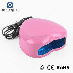 Fast curing Nail machine, portable 3W heart shape mini UV LED nail lamp
