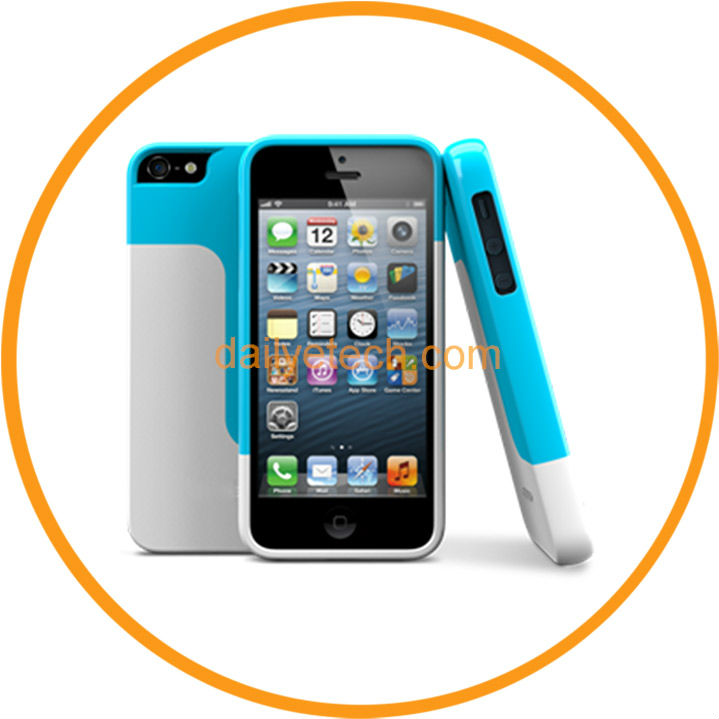 New Fashion Vivid Choice Colorful Hard Case for iPhone5 5 Back Cover Shell White+Blue from Dailyetech