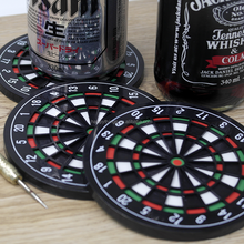 Wholesale Plastic Novelty Gadget items in Dart Board style 4pcs Plastic Drink Cup Coasters