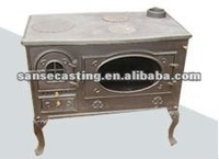 wood pellet cooking stove with boiler