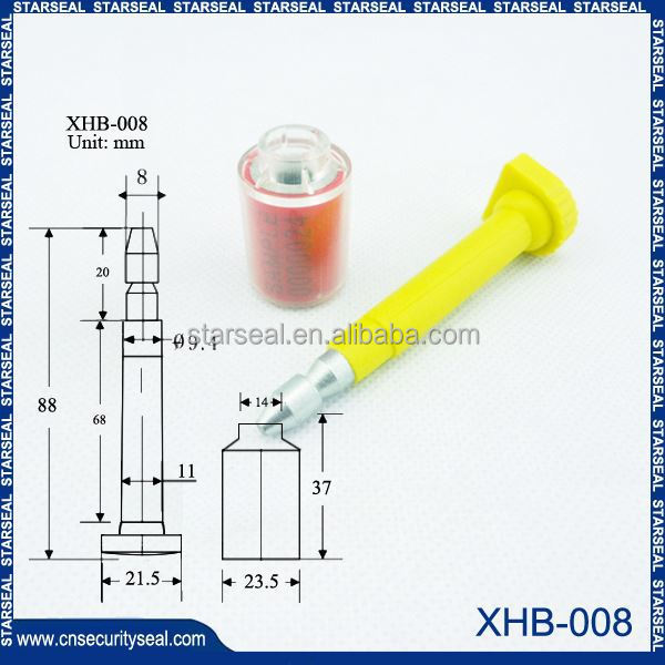 XHB-008 shipping company seals use on all kinds of trucks and containers