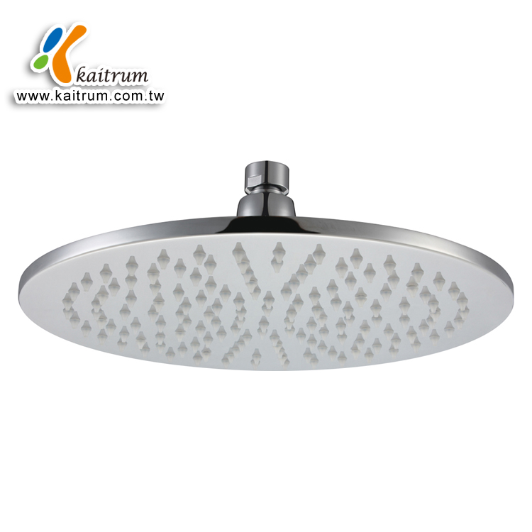 LED Round Ceiling Shower Head 8 Inch Brass LED Round Shower Head for Bathroom
