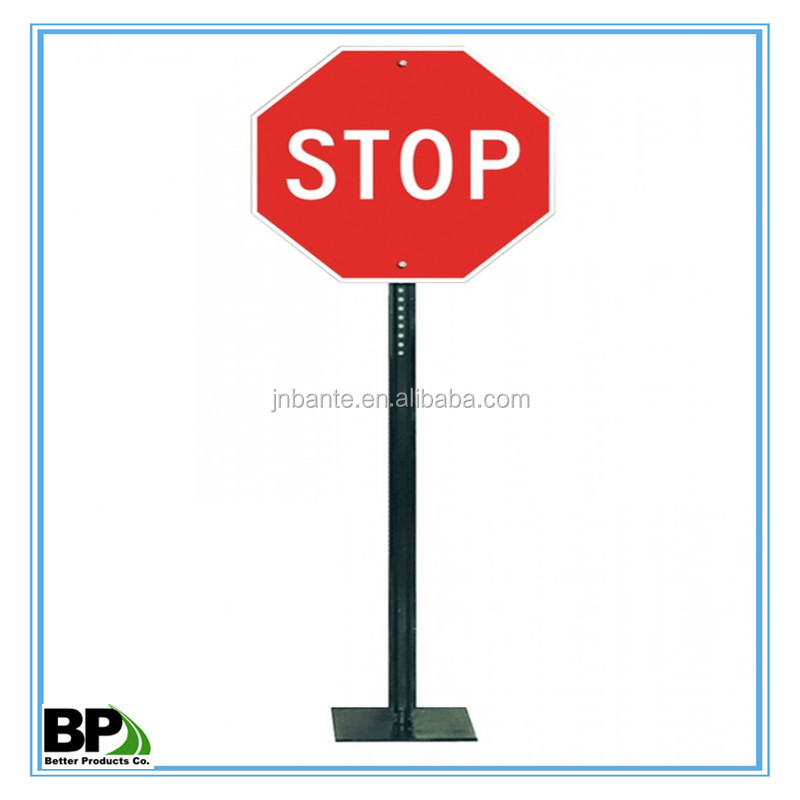 punched full-length or customized u chanel sign post with inventory