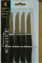 4PC super sharp high quality stainless steel paring knives
