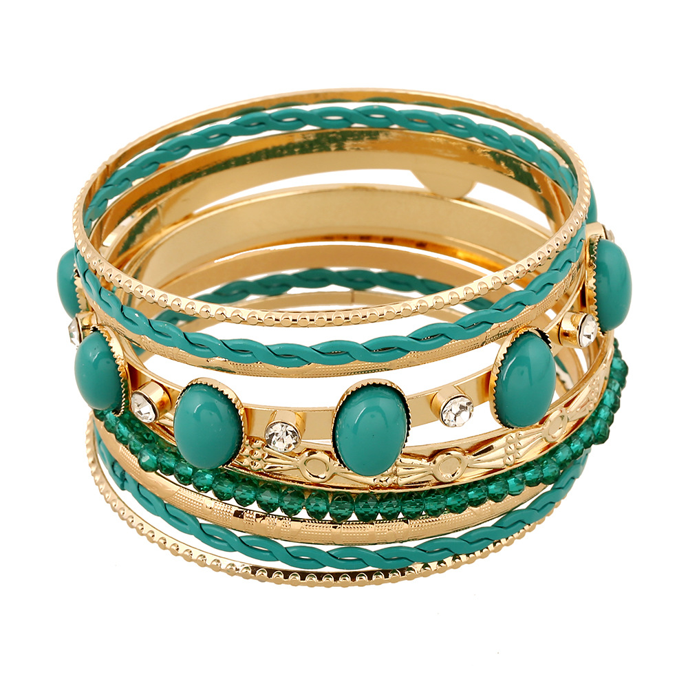 hollow turkish antique ethnic jade jewelry bangles store cuff arabesque gold bride com resin product drop water aliexpress india from women color buy new bracelet emerald flower green pear floral vintage