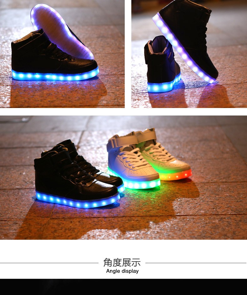 Luminous shoes unisex Led Light up Men Shoes Men Sneakers led shoes for adults fashion chaussure led