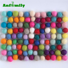 new products mixed color 100% wool felt balls for rug coaster placemat gift DIY home decorations