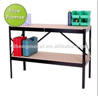 Premium 2 Shelf Work bench Steel Frame with E1 Wood Top 917x457x915 TI-152