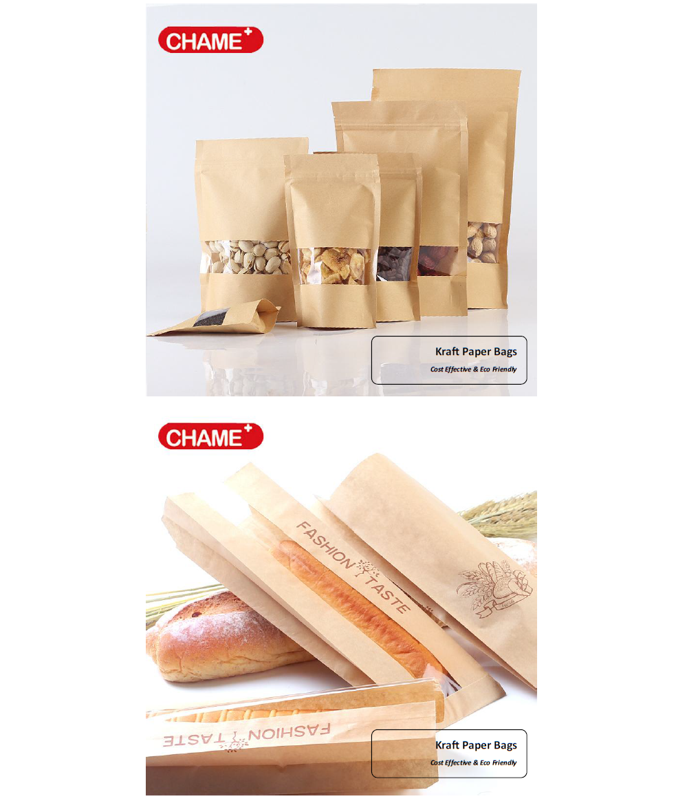 KRAFT PAPER HANDLE SHOPPING CARGO BAG