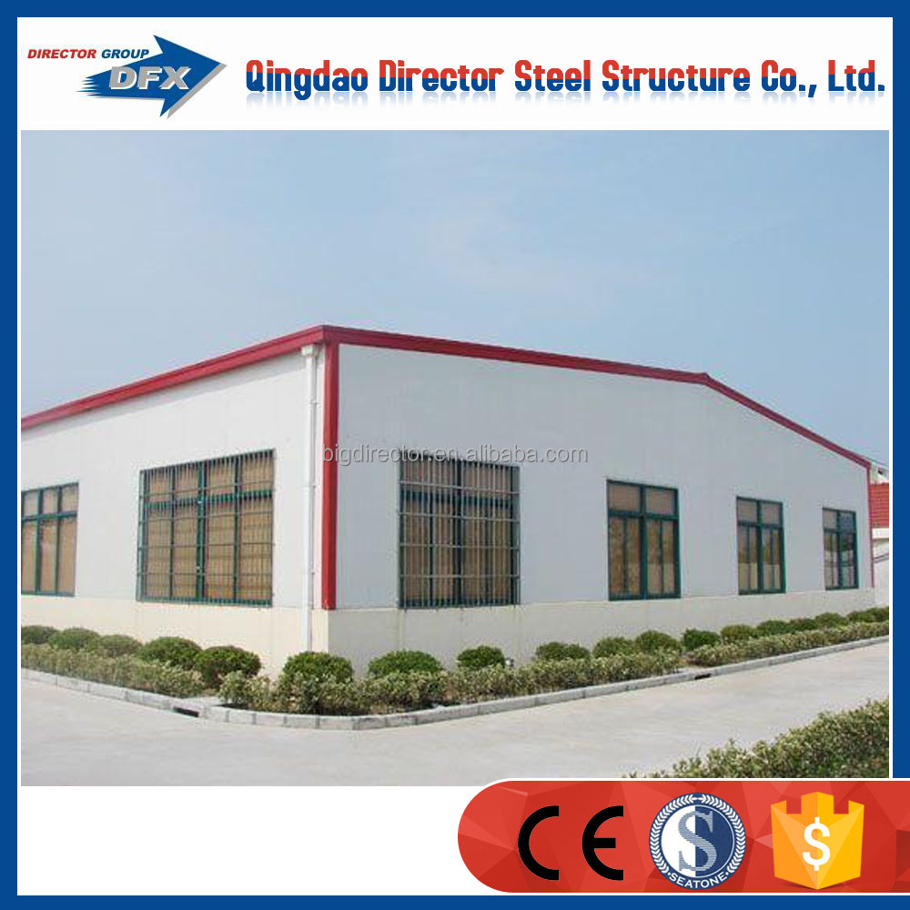large span light steel structure warehouse prefabricated building