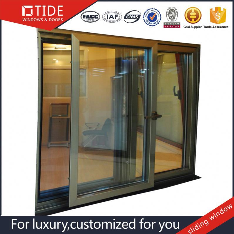 High quality aluminum frame sliding doors / aluminum wood door