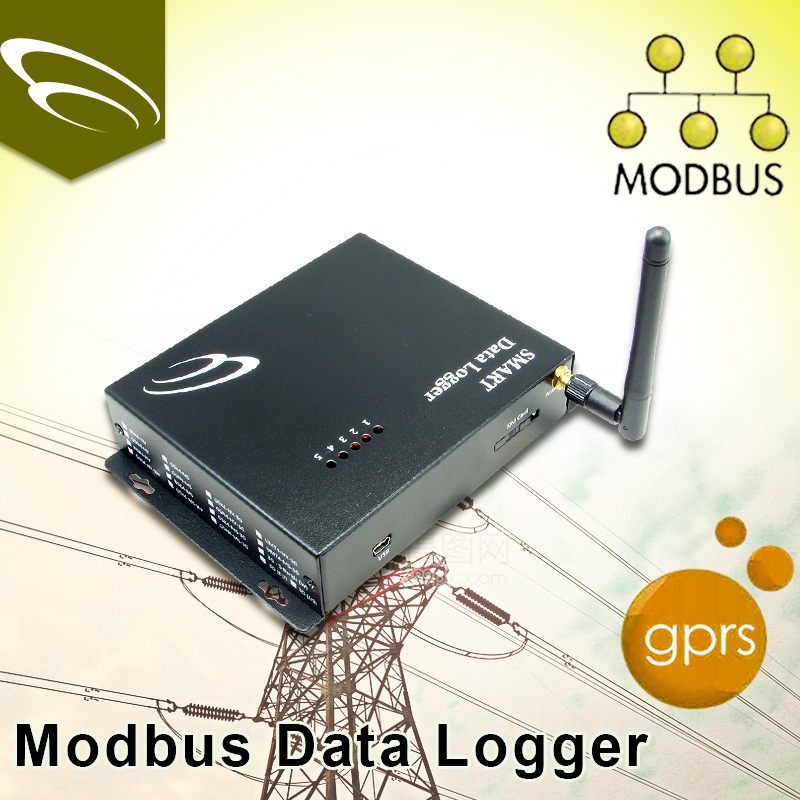 rs485 pulse counter Modbus Data Logger gprs rs232 wireless modem