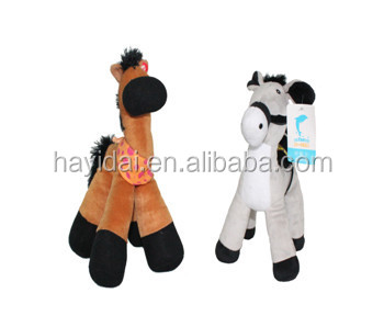 Large playful rocking plush horse