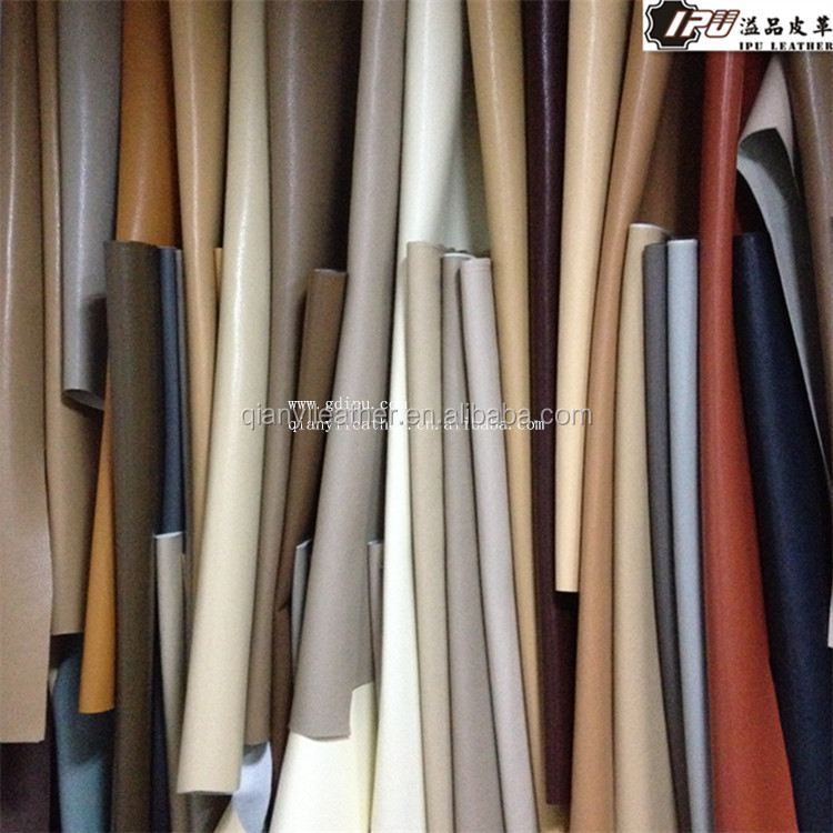 Raw materials eco-friendly synthetic microfiber PU leather for furniture