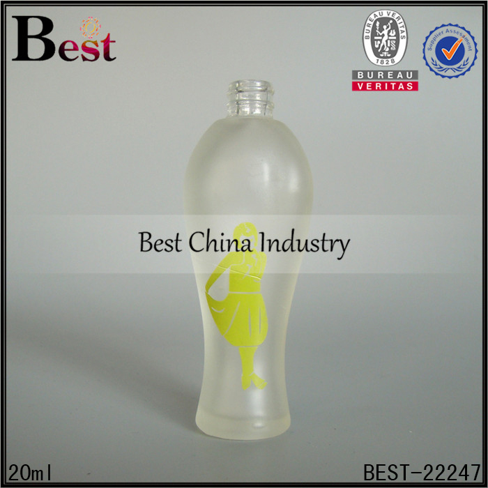 global famous brand luxury glass frosted beautiful special design perfume spray bottle 20ml