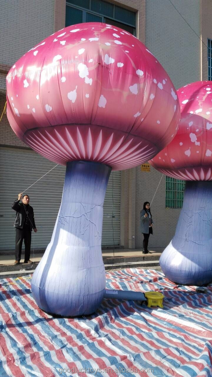 2016 Hot sale giant inflatable mushroom for decoration