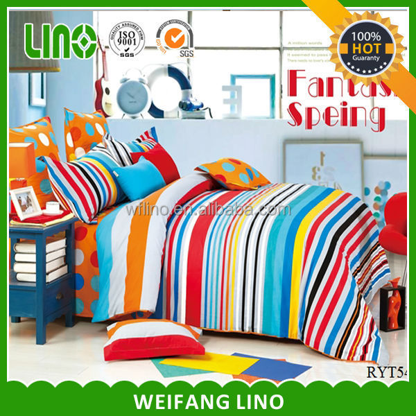 luxury wedding made in China plaid unique bedding adults