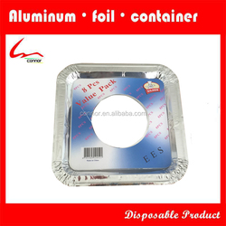 Disposable square aluminium foil gas / electricstove mat
