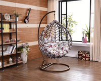 2016 new design one seat rattan swing chair parts with cusions
