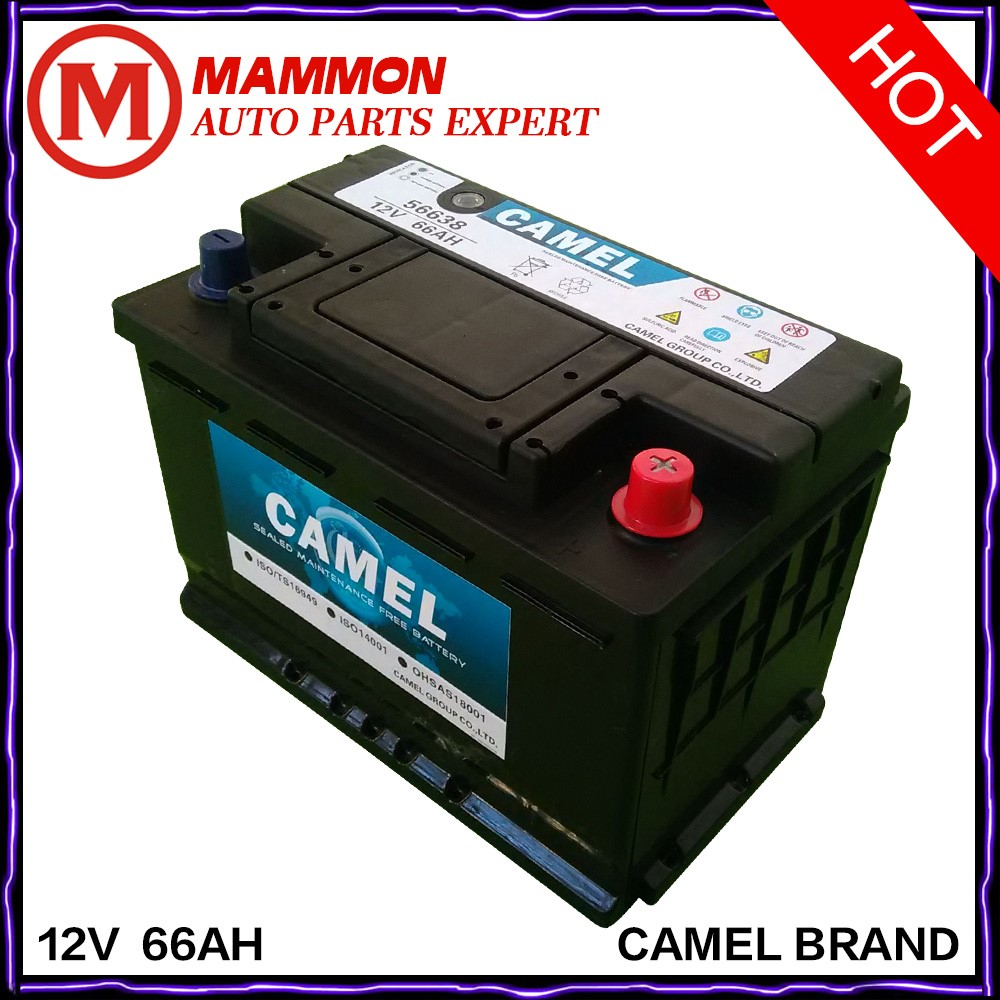 camel brand quality 12V 66AH MF car battery factory