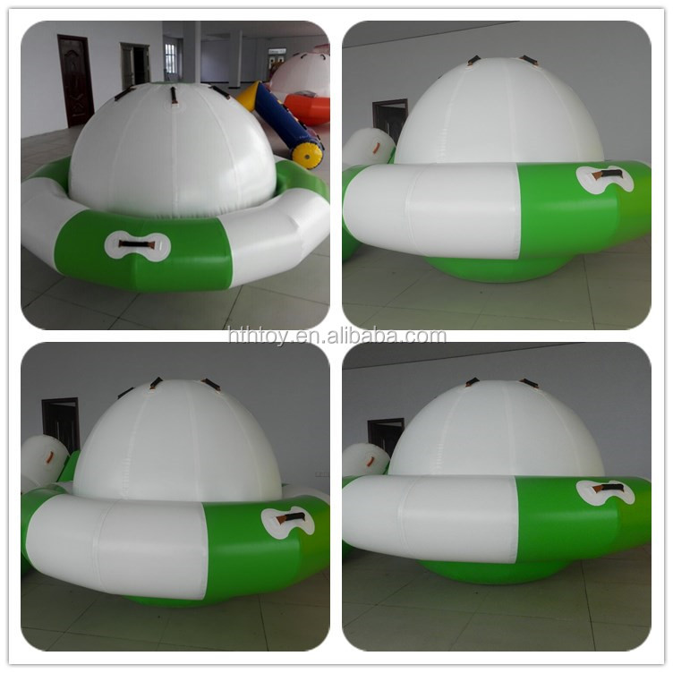 PVC coated material and water games type ufo inflatable disco boat
