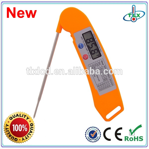 2015 Amazon Hot Selling China Manufacturer Provide Waterproof BBQ Meat Thermometer With LCD Display (Factory Price)