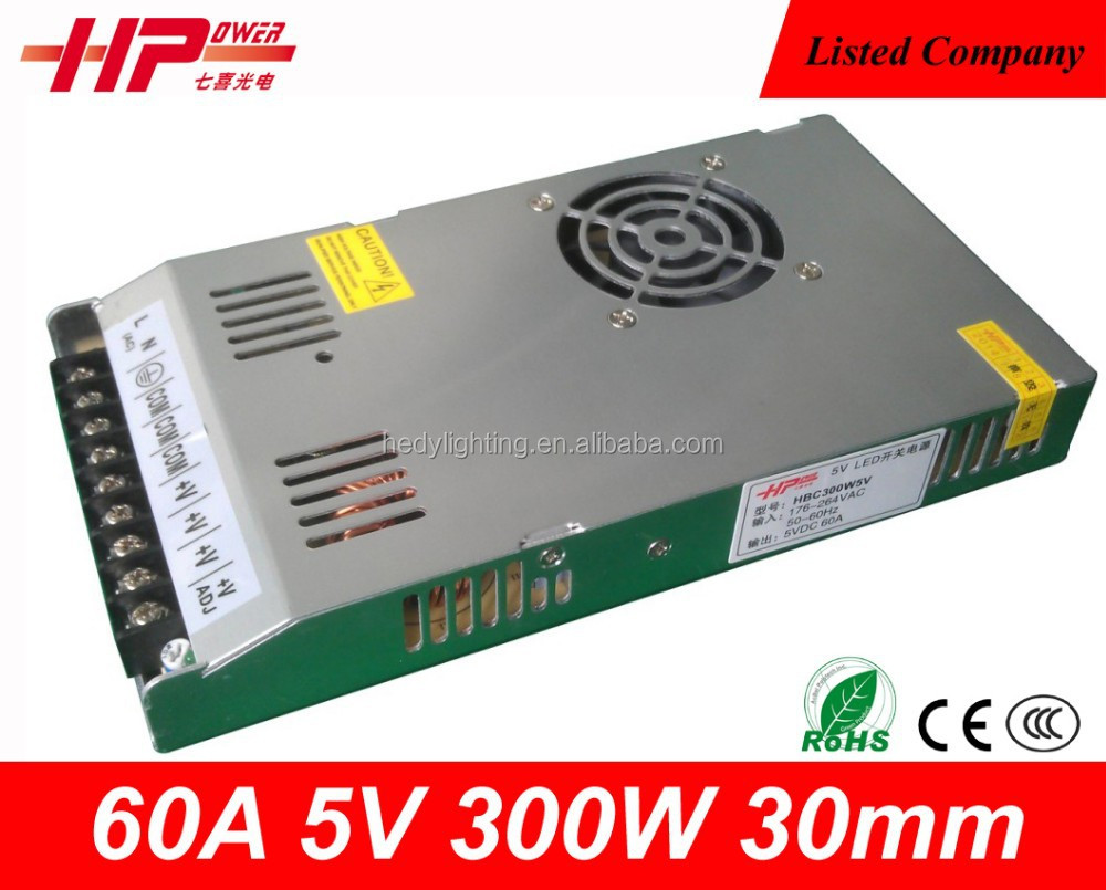 Alibaba website gold supplier hot selling AC DC Regulated Switching Power <strong>Supply</strong> High Quality 300w 5v 60a power <strong>supply</strong> <strong>100</strong> vdc