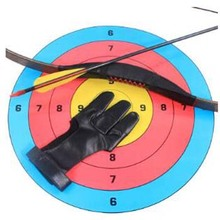 Genuine Leather 3 Finger Archery Glove, Shooting Glove