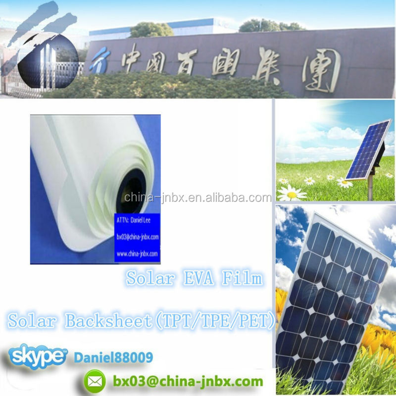 TPT/TPE/PET Backsheet Solar Backsheet Encapsulation TUV/UL EVA Solar Film Solar Panel
