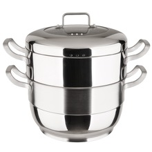 Smart Hot sale Double Layer Multi-function Stainless Steel Food Steamer pot with lid