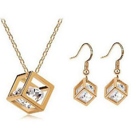 Crystal Cubic Set Zircon Jewelry Sets