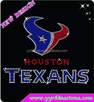 Sport Hotfix Motif Houston Texans Rhinestone Transfer