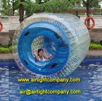 2015 blue transparent inflatable water roller /inflatable water wheel ball A3095-1