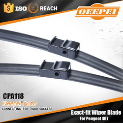 Cheap air freight used car for peugeot 407 front wiper blade boneless banana aero wiper blades with natural wiper rubbers