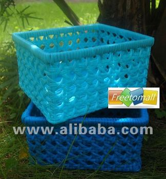 Freetomall Home & Garden Sweet color PP rattan storage basket