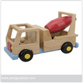 Manual Wood Toy Tanker Truck in Hot Sale