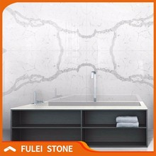 Interior decorative faux calacatta quartz marble stone wall panels