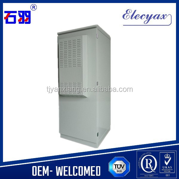 Weatherproof outdoor station use telecom steel enclosure/SK-291/19 inch rack instrument cabinet with heat tranfer unit