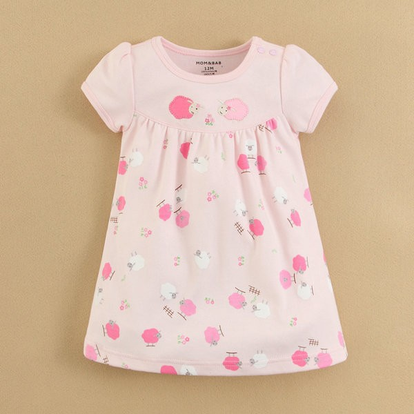 Wholesale 100% Cotton New Cute Dresses for Girls Lastest Fashion Dresses In-stock (133321)