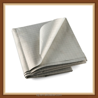 Gray color ripstop anti radiation fabric for wallet bag lining, wall covering , curtain
