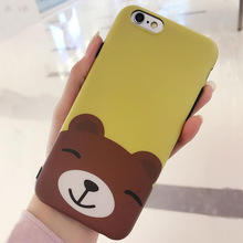 New Design lion Phone Cover 3D Cartoon Lovely Mobile Phone Silicon Case for iPhone 7 6
